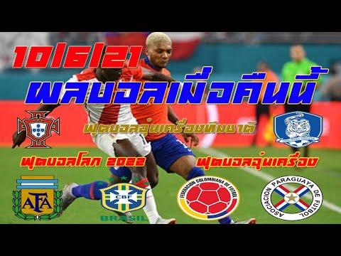 ผลบอลเมื่อคืนนี้/SECOND ROUND/ฟุตบอลอุ่นเครื่องทีมชาติ/ฟุตบอลโลก 2022/10/6/21