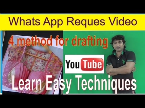 Whats App Video Request Learn Drafting Front Part Design Easy Method