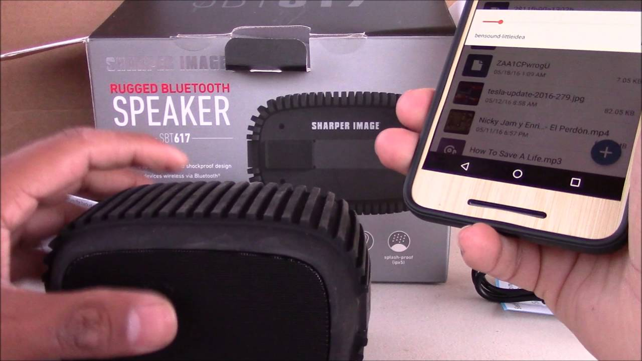 Sharper Image Rugged Bluetooth 40 Speaker Unboxing Youtube