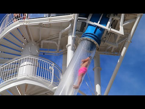 The Greatest Waterslide On A Cruise Ship!