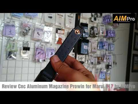 Review Kelebihan & Kekurangan Cnc Aluminum Magazine Prowin for Marui / TM G17 / Glock by AIMPro