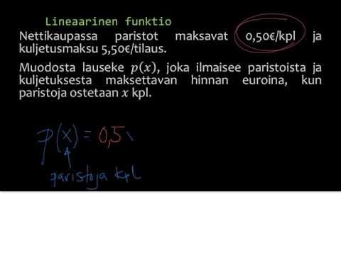 7. Lineaarinen funktio