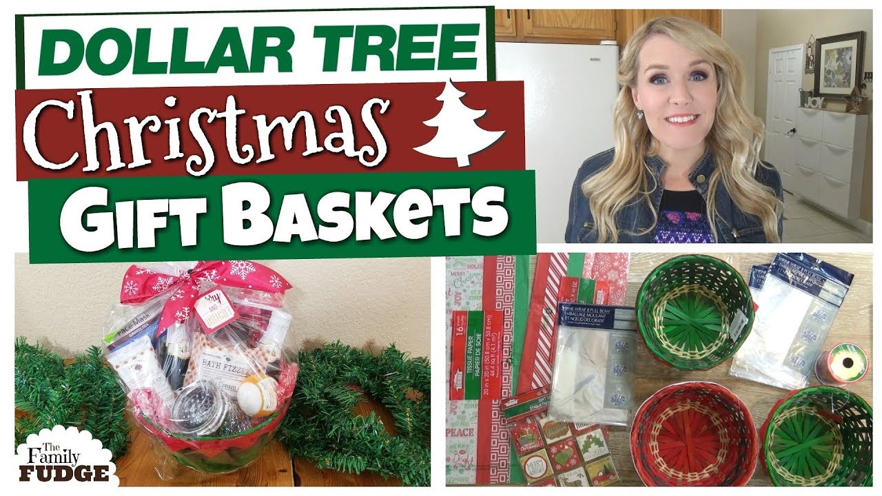 DOLLAR TREE DIY CHRISTMAS GIFT BASKETS 🎄 | Budget ...