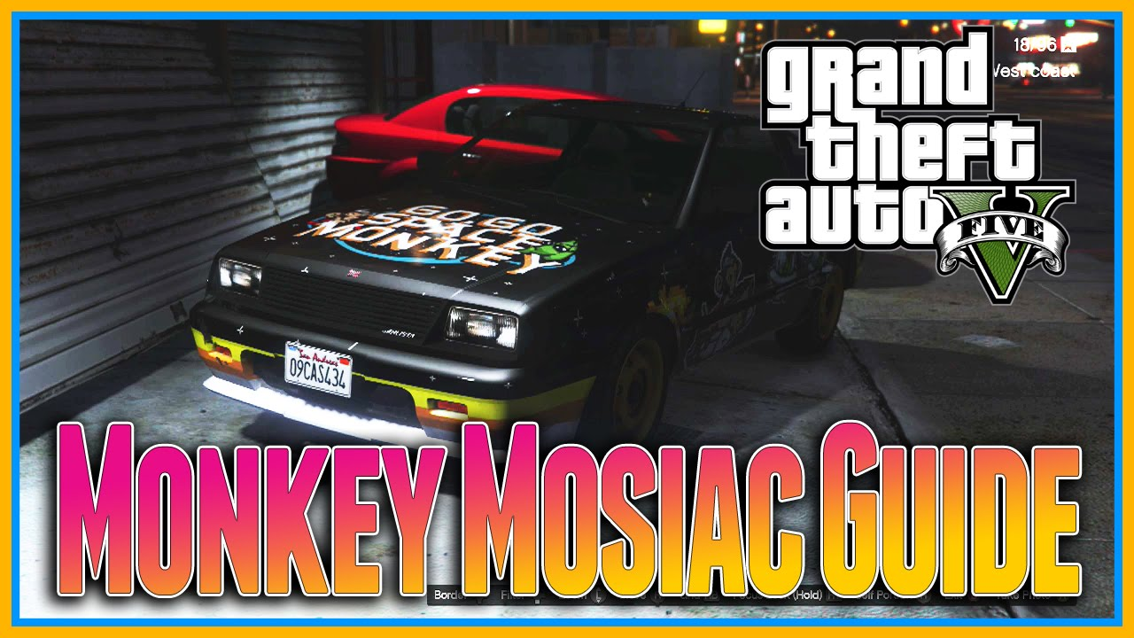 GTA 5 Next Gen - Monkey Mosaics Location Guide (Go Go Monkey Blista) [PS4 &  Xbox One]