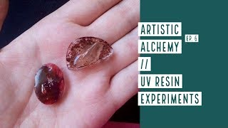 Artistic Alchemy Experiment nr.6 // UV resin with inclusions in silicone mold