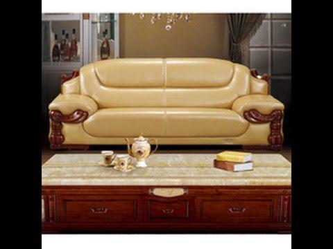 Роскошный кожаный диван и кресла в гостинную