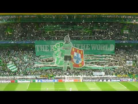 Paixão Brutal 48575 no estádio a cantar O Mundo Sabe Que-Sporting C P vs Barcelona  27-09- 2017