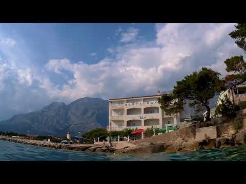 Chorvatsko 2017 : Promajna - evening swimming (Croatia Coast)
