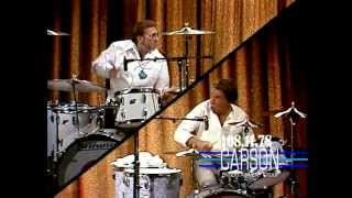 "Buddy Rich and Ed Shaughnessy Play Drums on ""The Tonight Show Starring Johnny Carson"" - 1978"