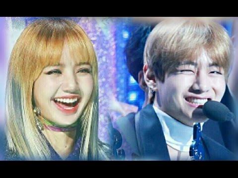 Bts V And Blackpink Lisa At Gaon Chart Awards Taelice Youtube