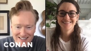 #ConanAtHome: Shailene Woodley Full Interview - CONAN on TBS