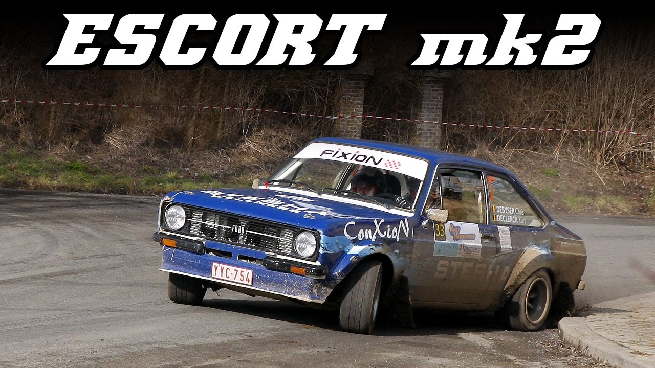 Ford Escort mk2 RS2000 rally - sideways all the time - YouTube