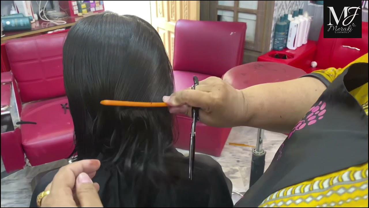 Basic A Line ( Triangular) Bob Haircut Tutorial   Easy Haircut at hine