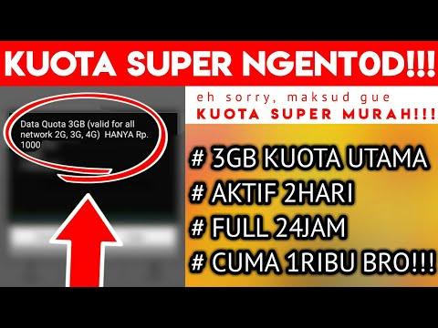 KUOTA SUPER MURAH!!! 3GB 2HARI 1RIBU