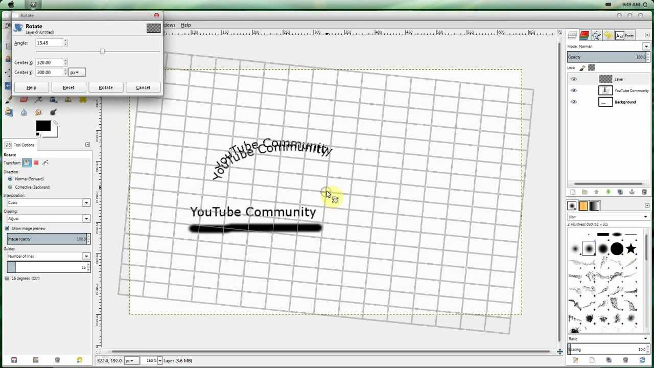 how to get text to curve in gimp