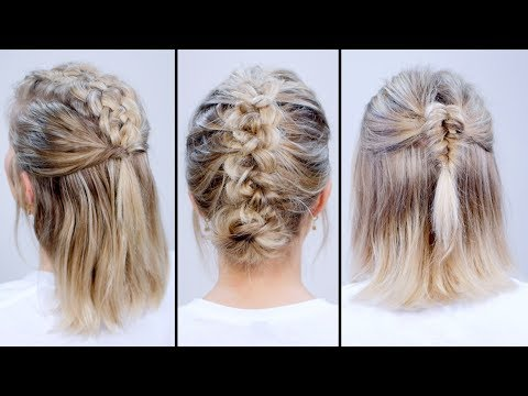 Braided HEATLESS BACK TO SCHOOL Short Hairstyles | Milabu