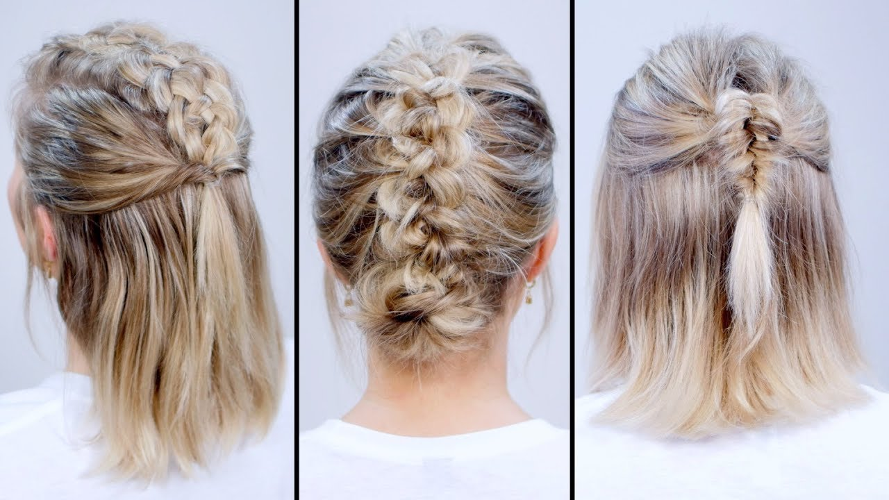 Braided HEATLESS BACK TO SCHOOL Short Hairstyles