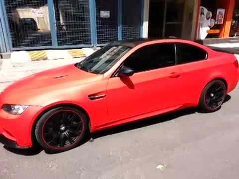 Bmw M3 Con Vinil 3m Rojo Mate 3m Matte Red Wrap Youtube