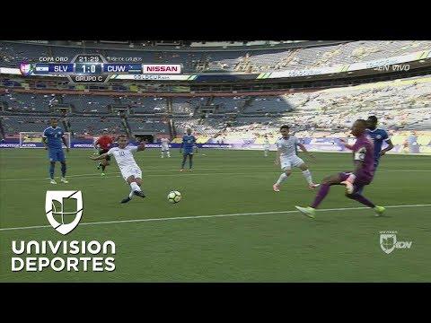 El Salvador marcó el 1-0 sobre Curazao con gol de Gerson Mayén
