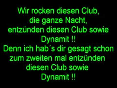 Dynamit auf Deutsch lyrics