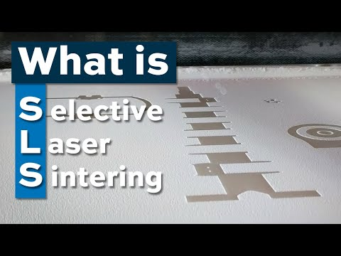 What is selective laser sintering?