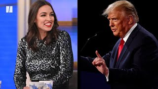Rep. Alexandria Ocasio-Cortez Calls Out Trump For Debate Name-Drop