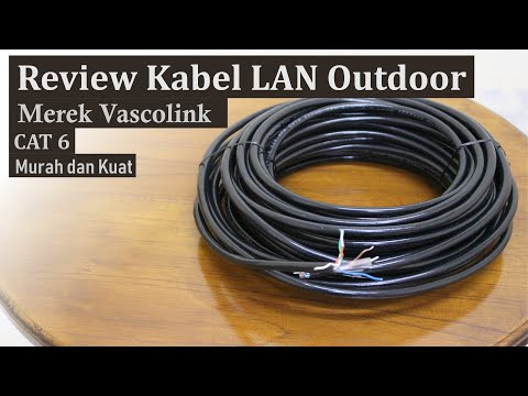 Review Kabel LAN Outdoor CAT6 Merek Vascolink Murah Kuat