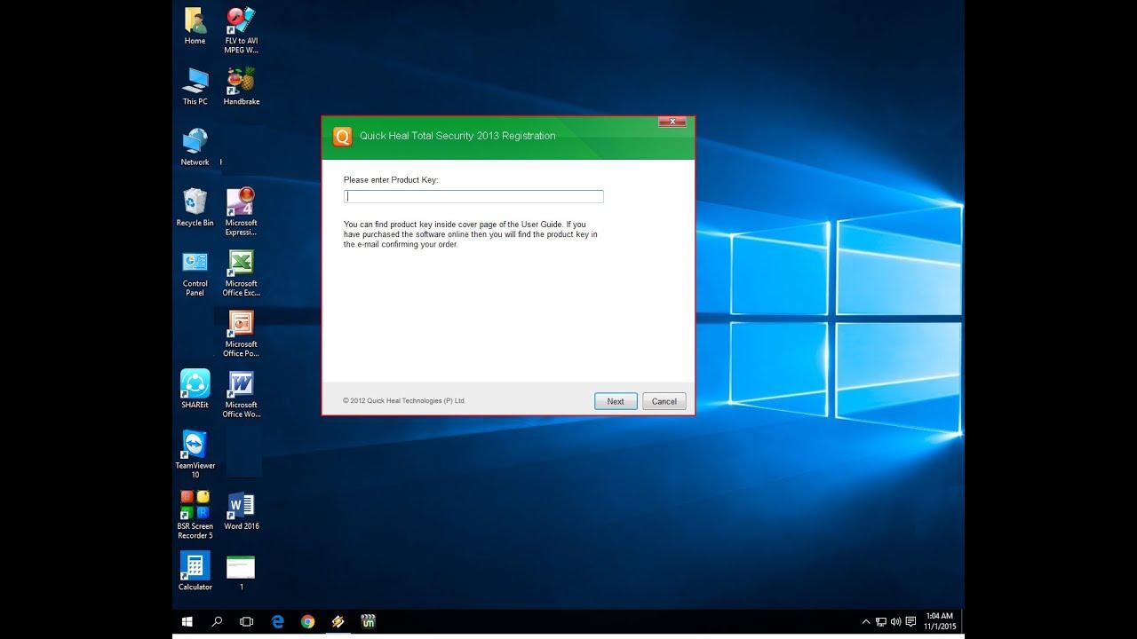 how to turn on quick heal antivirus in windows 10
