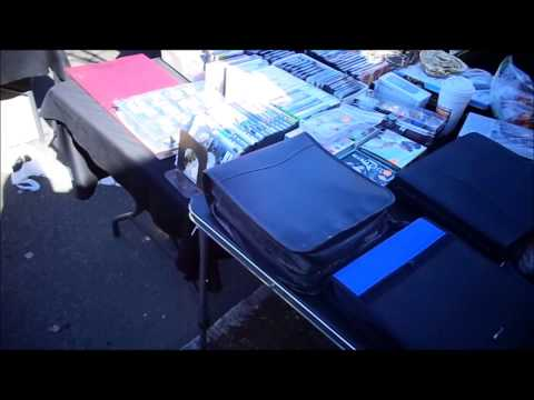 Maywood Street Fair, Maywood NJ Flea Market Set Up - 4/6/14