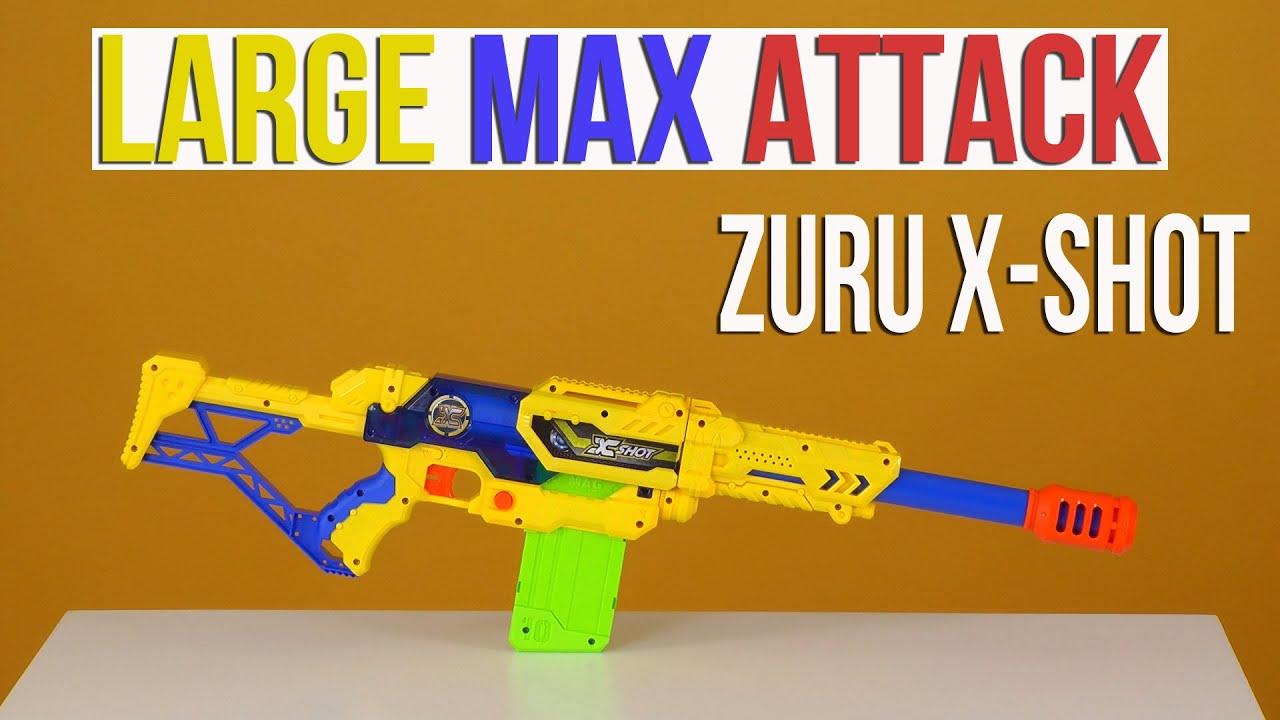 Ра�паковка zuru xshot large max attack 3694 youtube