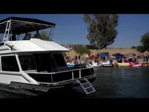 Houseboat crashes boats The Channel Lake Havasu