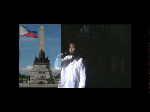 Peter Vince Renacido sings The Philippines National Anthem