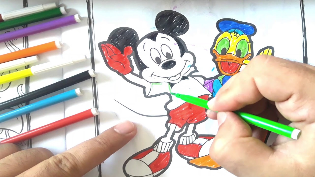 Nice Color Micky Mouse 3 ميكي ماوس تلوين Youtube