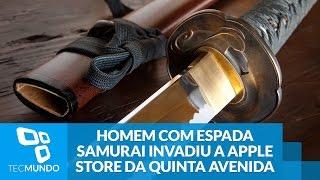 Homem com espada samurai invadiu a Apple Store da Quinta Avenida