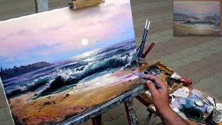 Морской пейзаж маслом . Seascape oilcolor painting