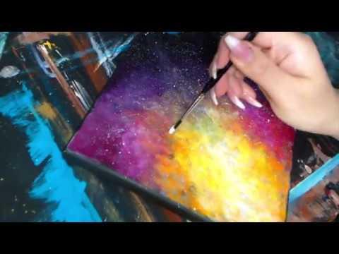 Pictura in culori acrilice