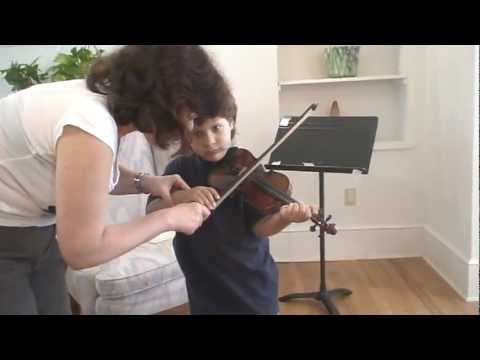 Jonathan SPIMA. Violin lesson with Alla Aranovskaya4.MPG