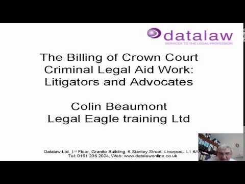 The Billing of Crown Court Legal Aid Work