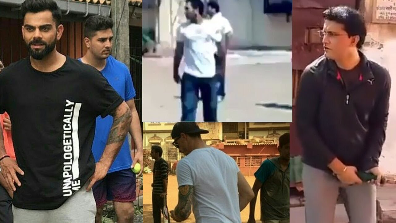 Cricketers Playing Street Cricket Compilation | Dhoni, Virat Kohli, Sourav Ganguly, Dale Steyn
