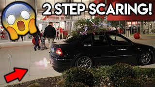 SCARING PEOPLE WITH 2 STEP PART 2!