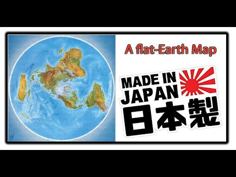 A Flat Earth Map MADE IN JAPAN thumbnail