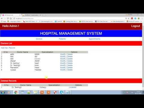 Download Hospital Management System - Phptpoint