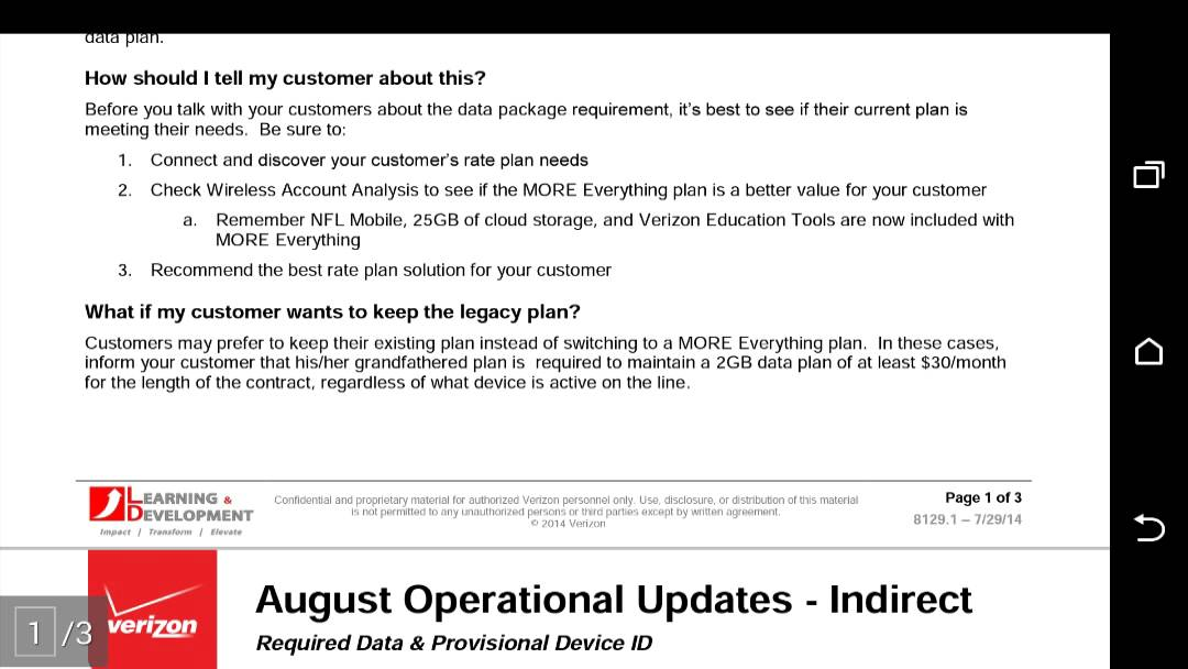 Verizon Internal Document Shows Existing Customers About To Get