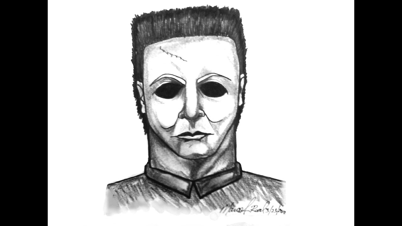 Lets Learn how to Draw Michael Myers in Pencil and sharpie ...