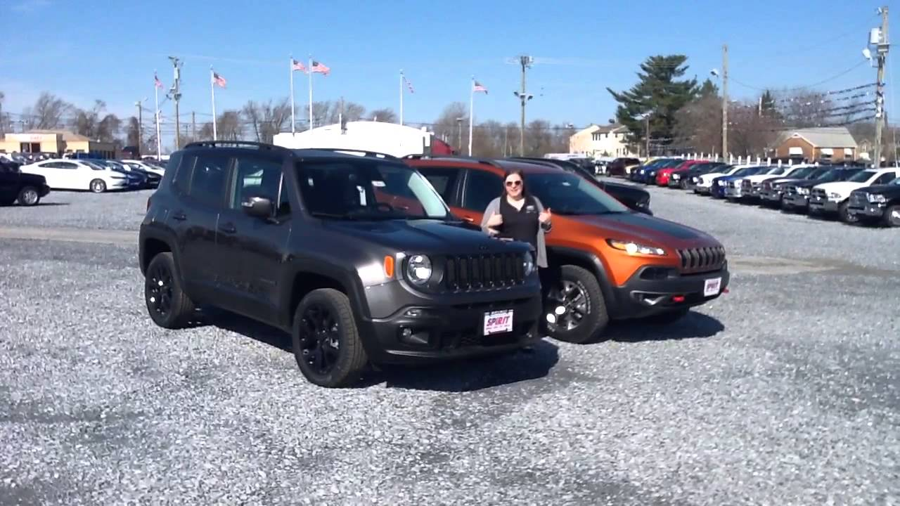 Jeep Renegade Dawn Of Justice Edition Vs Cherokee Trailhawk March Madness Spirit Auto Center You
