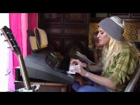 Ke$ha and Pebe working on Warrior (My Crazy Beautiful Life)