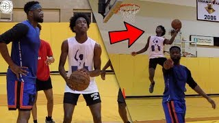 Dwyane Wade TRAINS HIS SON Zaire!! Throwing LOBS To Each Other! INTENSE NBA WORKOUT!