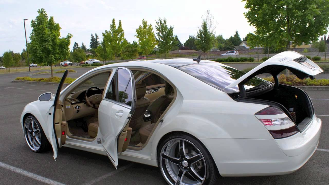 2007 Mercedes Benz S550 Custom Wheels Youtube