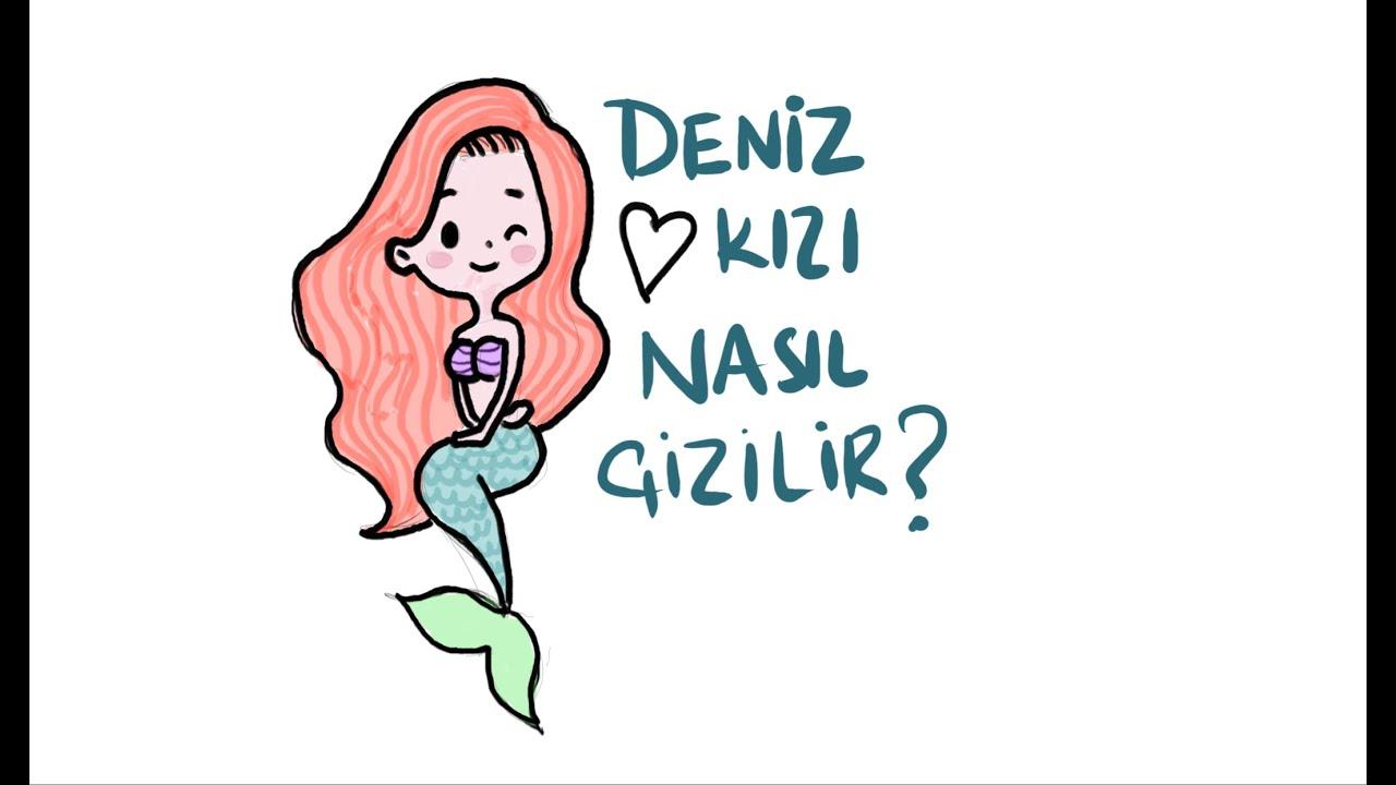 Deniz Kızı Nasıl çizilir Sevimli Deniz Kızı çizimi как рисовать