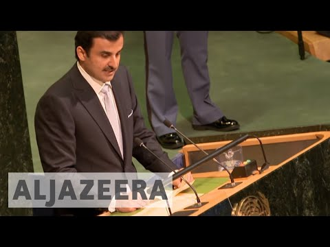 Qatar's emir addresses Gulf crisis at UN General Assembly